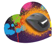 Tappetini mouse Cuore 180x220 mm  spessore 3 mm - SCONTO 25%