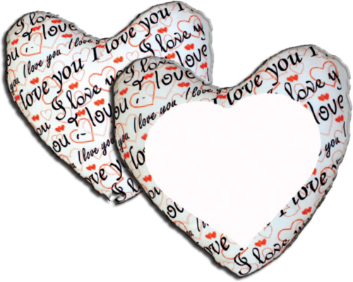 "Federa Cuore Full-Photo stampa ""I LOVE YOU"" su due lati con area stampabile - SCONTO 20%"